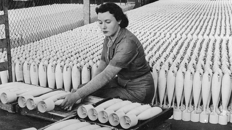 Woman working during WWII