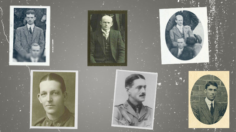 Some of the CBA staff who returned from World War One