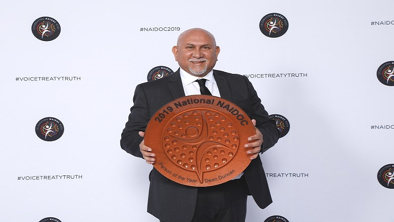 Dean Duncan, the 2019 NAIDOC Person of the Year winner