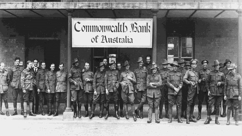 CBA branch with soldiers