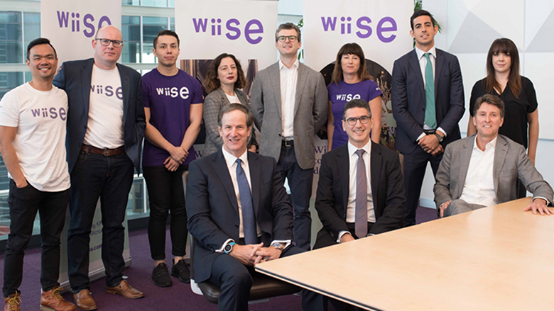 Executives at the launch of the Wiise partnership