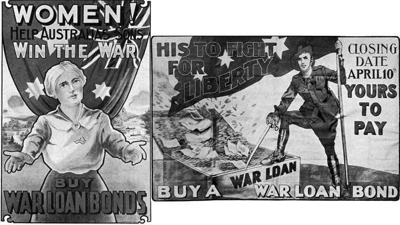 posters for war bonds