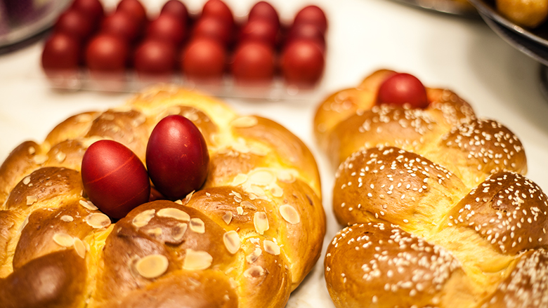 Nikos Cakes makes thousands of tsoureki in the lead up to Easter.