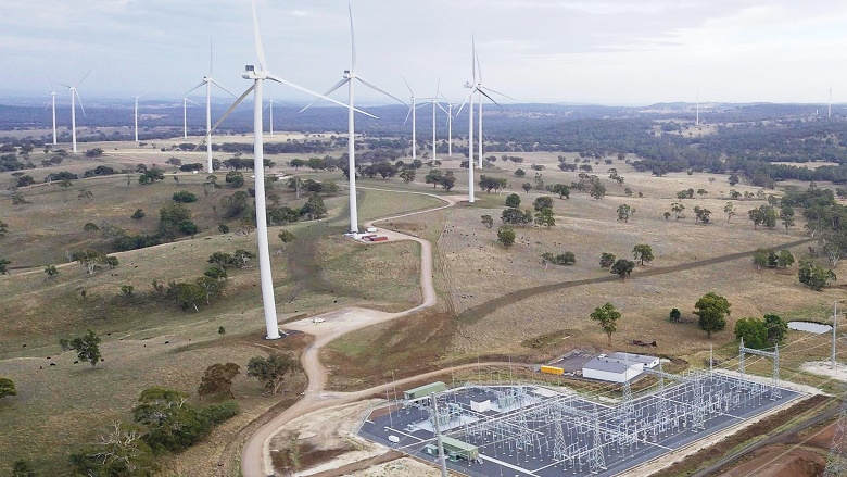 large wind farm in rural NSW