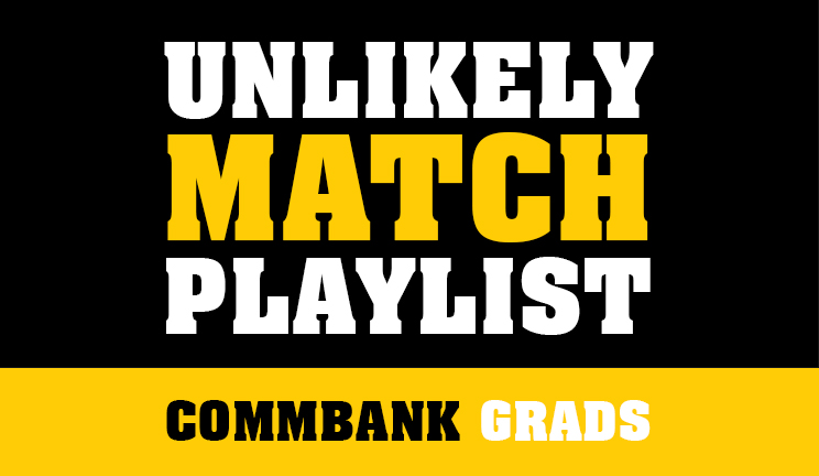 Unlikely match playlist on Spotift by CommBank graduates