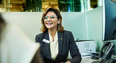CommBank employee working in a branch