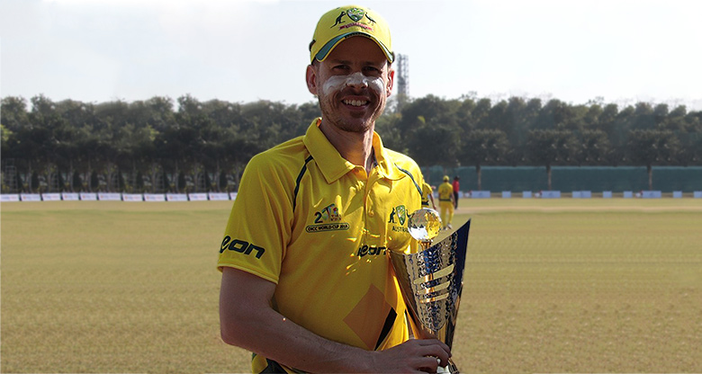 Andrew Park with cricket trophy