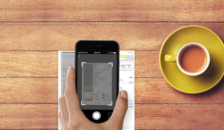 Image: take a photo of a bill with your mobile and pay it with the CommBank app