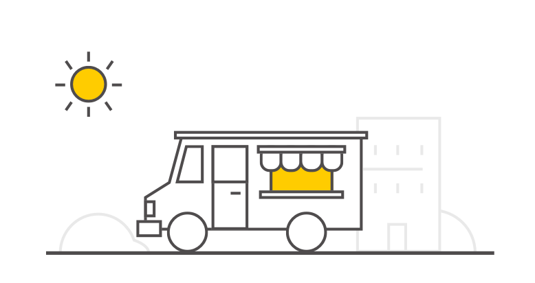 Pictogram of food truck