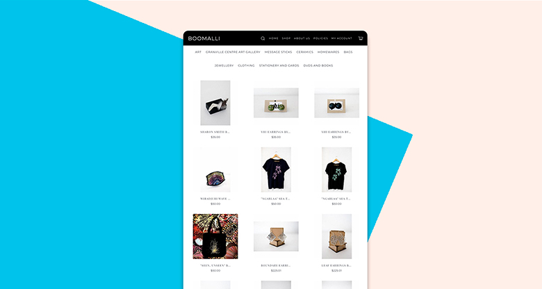 Screenshot of webstore built with Simplify