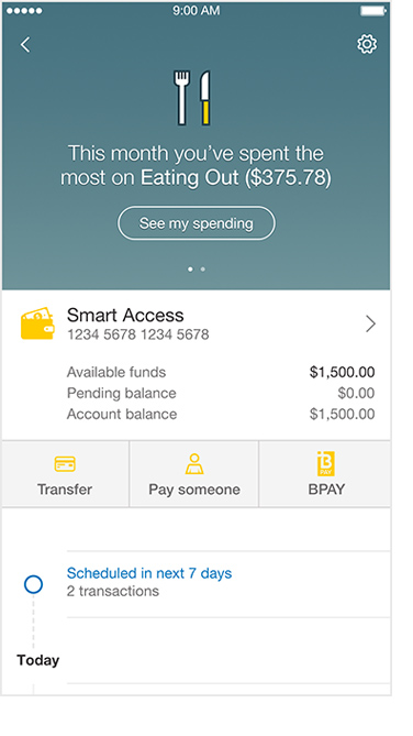 Screenshot of top expense category