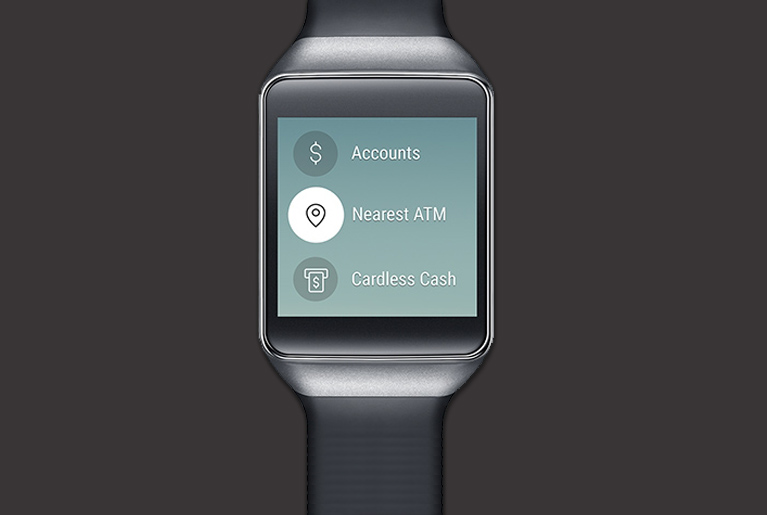 Commbank app for smartwatch options: Accounts, Nearest ATM and Cardless Cash