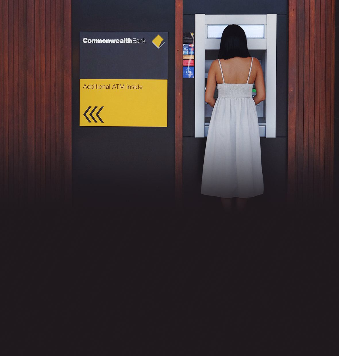 woman at CommBank ATM