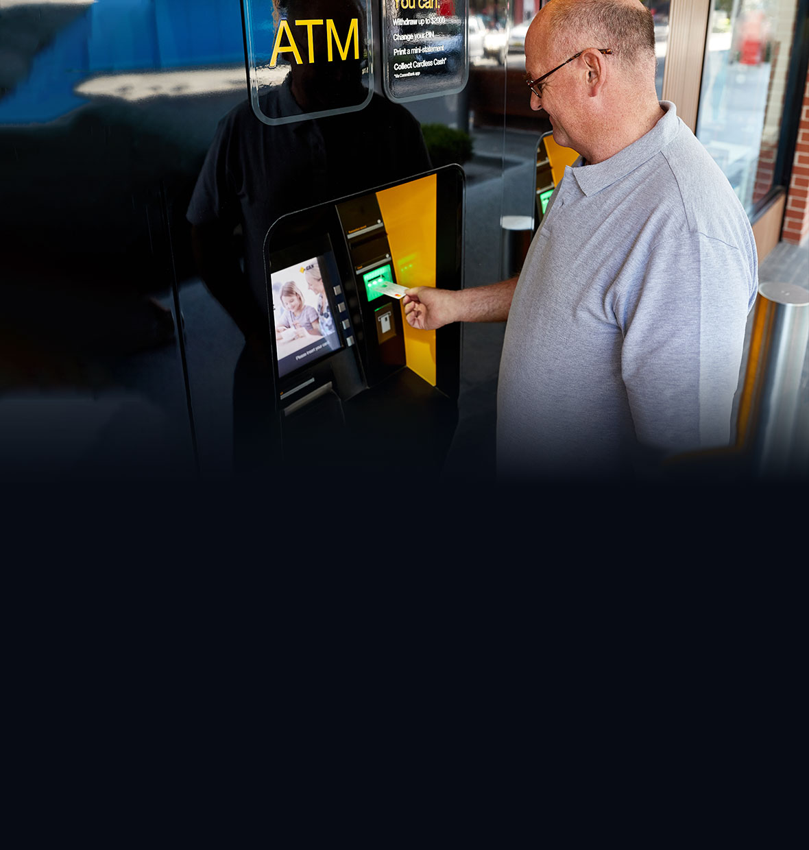 Man at CommBank ATM