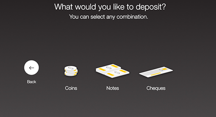 can i deposit coins at an atm