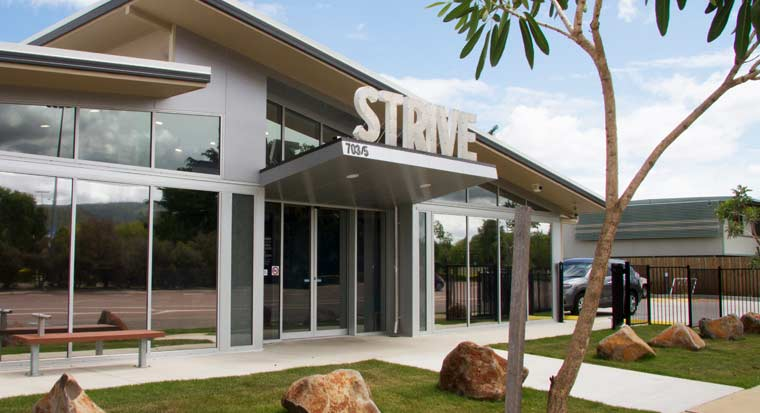 The front of a Strive Health building