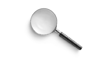 Data analytics magnifying glass