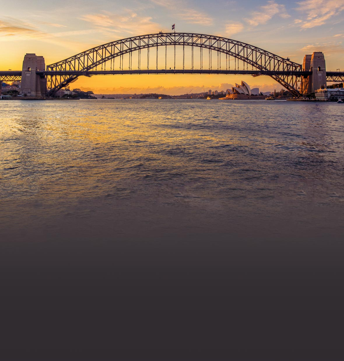 Sydney's iconic Harbour Bridge and the Opera House