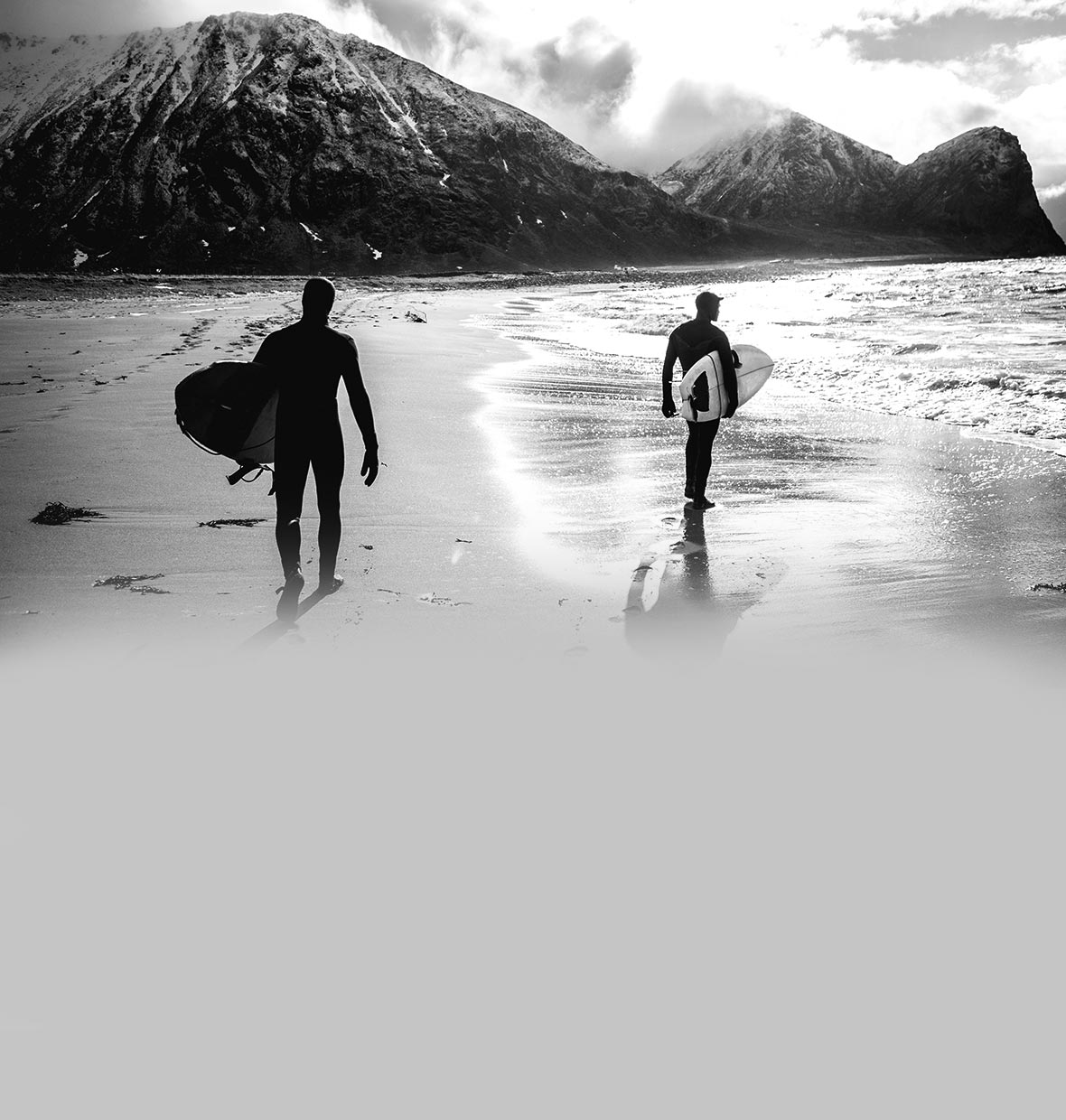 Surfers on beach