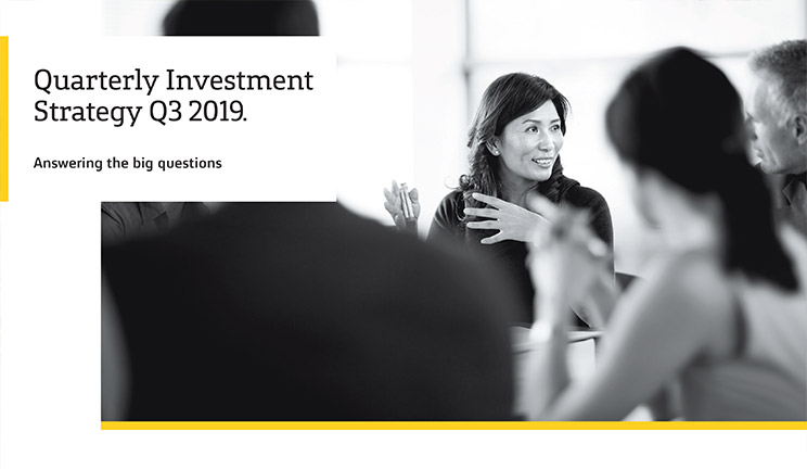 Private banking quarterly investment strategy report