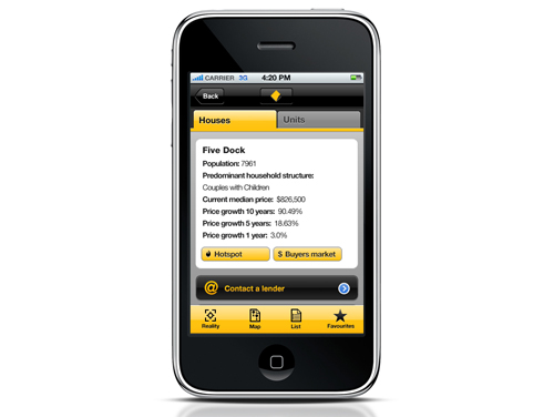 Commonwealth banks property guide iphone app now available.