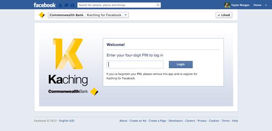 Kaching via Facebook