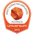 Most attractive employers Australia - Universum 2016 badge - Graduate Program