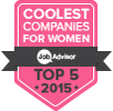 JobAdvisor Top 5 Coolest Employers for Women 2015