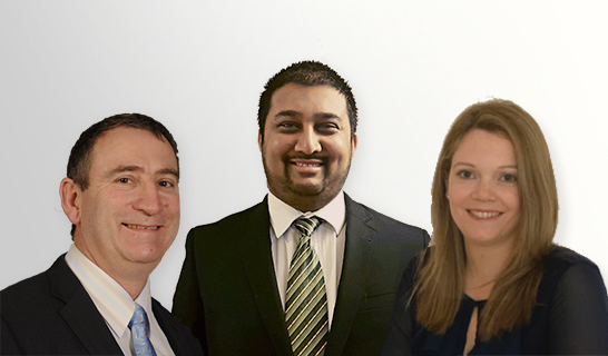 Photo of Bruce Clarke, Kaveen Bachoo and Sinead Glennon