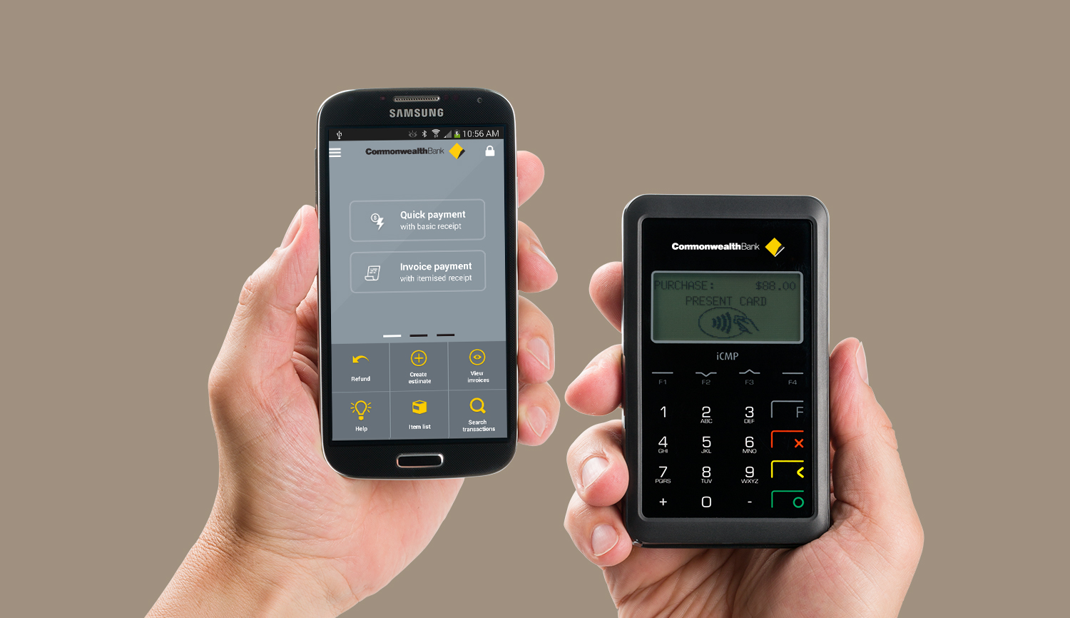 Commbank emmy a payment terminal and small business app colourmoves