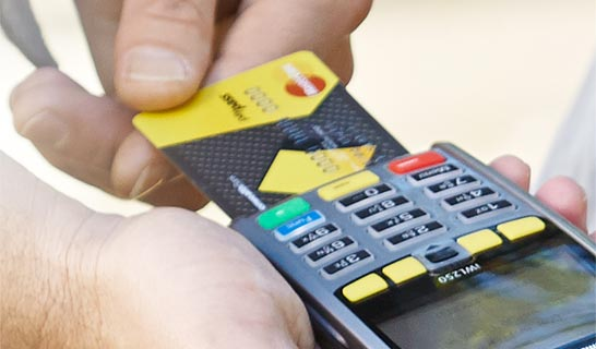 how to pay using credit card by eftpos