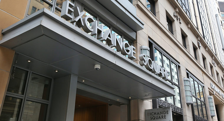 Australian Securities Exchange outside of building in Sydney