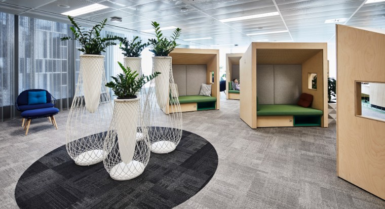 Office pods at CommBank