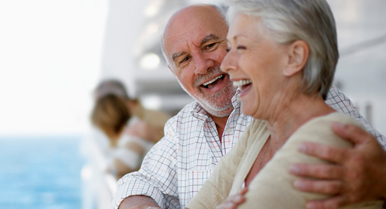 Image of retired couple smiling
