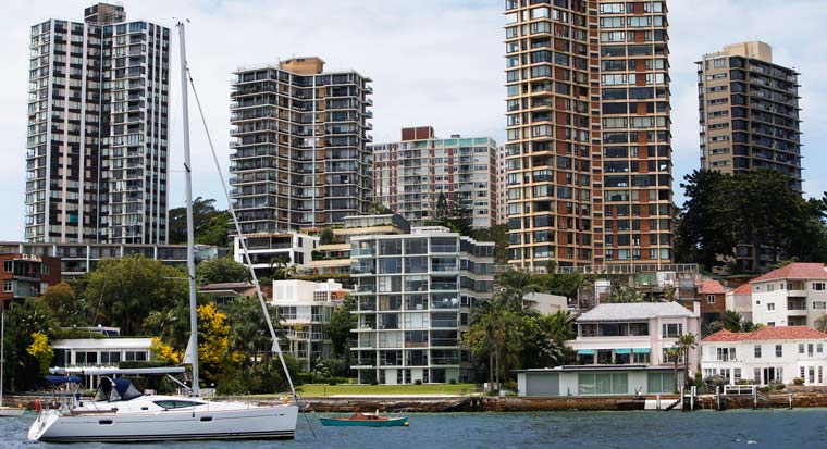 Sydney apartments by the harbour