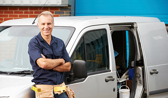 Tradie and his van