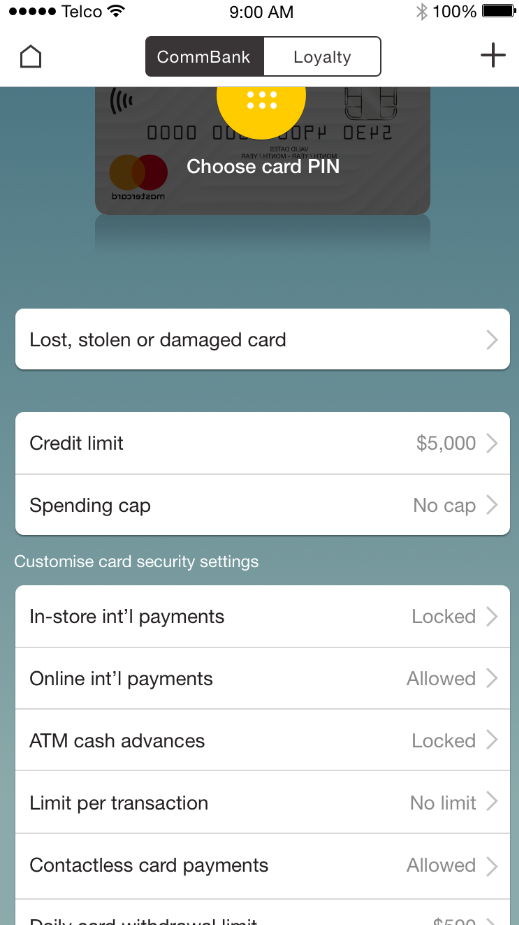 Extra credit card security when you really need it - CommBank