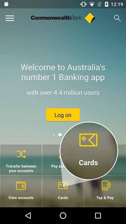 Open the CommBank app