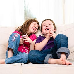 Lifestyle image - kids happy at home