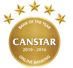 Canstar bank of the year online banking 2016