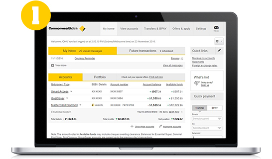 Switch To Online Statements  Commbank