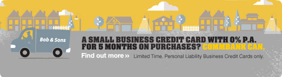 Business credit card 0% p.a. interest on purchases for 5 months