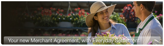 Your new merchant agreement with everyday settlement