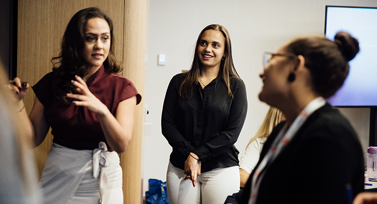 Participants in the Indigenous Women's Career Mentoring Program, facilitated by Career Trackers