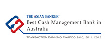 The Asian Banker- The best cash management bank in Australia - Transaction banking awards 2010, 2011, 2012