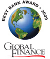 Global Finance Best Bank Award 2009 logo