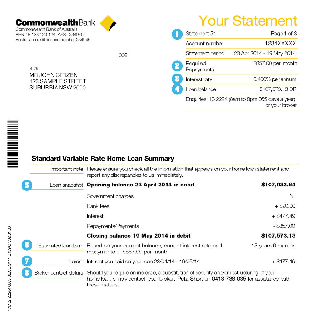Your guide to home loan statements commbank mortgages image of home loan statement maxwellsz