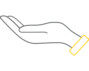 Image of a hand with palm facing up representing volunteer hours contributed to communities by Commonwealth Bank employees