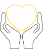 Image of hands holding a heart representing a commitment to improving indoor environmental quality as part of Commonwealth Bank's new five year Sustainable Property Strategy