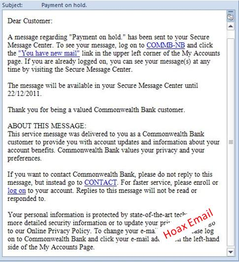 example of a hoax email